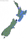 GeoNet shakemap for New Zealand 7 July 2011