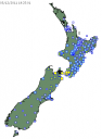 GeoNet shaking map for New Zealand, 3 December 2011